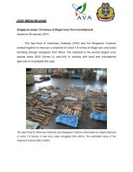 Singapore stops 1.8 tonnes of illegal ivory from transhipment Issued ...
