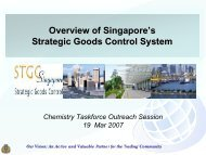 Strategic Goods Control List - Singapore Customs