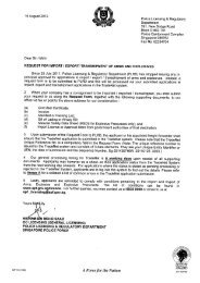 Request for Import / Export / Transhipment of Arms ... - TradeXchange