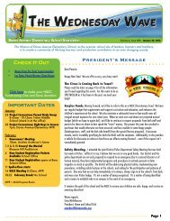 The Wednesday Wave Newsletter - Daves Avenue Elementary School