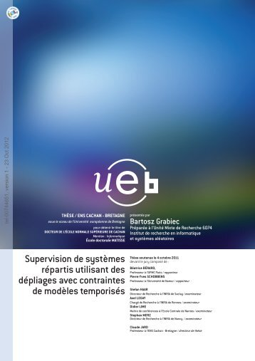 Supervision of distributed systems using constrained ... - TEL