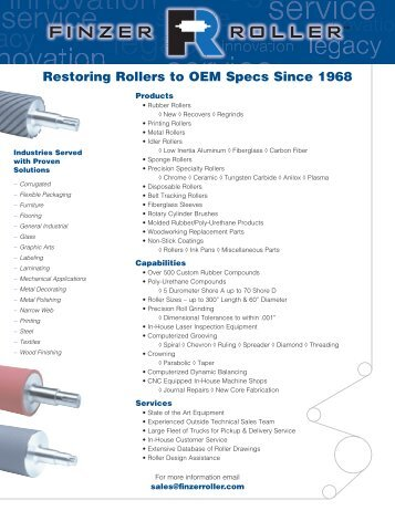 Company Overview (PDF) - Finzer Roller