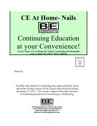 CE At Home- NAILS - Inner State Beauty School