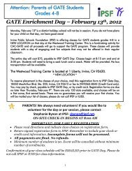 FAQ GATE/APAAS - Irvine Unified School District