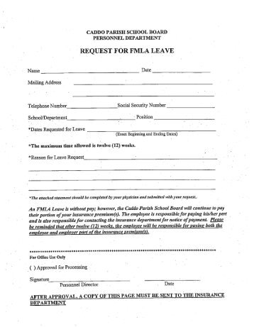 MEDICAL CERTIFICATION FAMILY MEDICAL LEAVE ACT (FMLA)