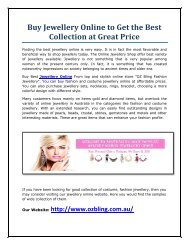 Buy Jewellery Online to Get the Best Collection at Great Price