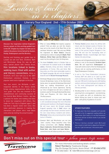 Literary Tour - Good Reading Magazine