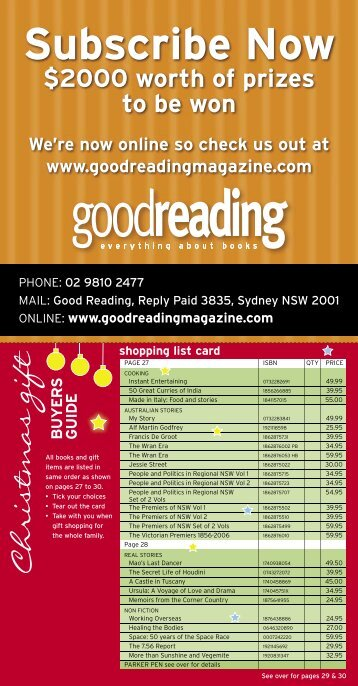 15 subs card_c.indd - Good Reading Magazine