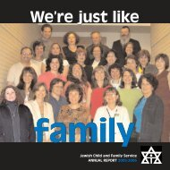 We are just like We're just like - Jewish Child & Family Service