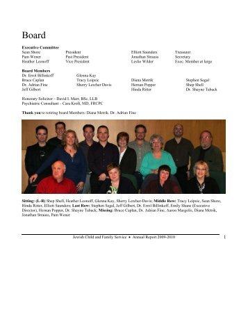2010-2011 Annual Report - Jewish Child & Family Service