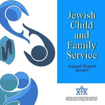 2012-2013 Annual Report - Jewish Child & Family Service