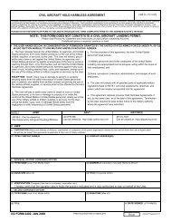 DD Form 2402, Civil Aircraft Hold Harmless Agreement, January 2008