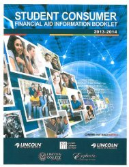 Student Consumer Information Booklet (SCIB) - Lincoln Technical ...