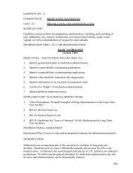 Certified Medication Technician Student Manual