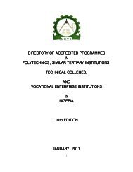 Download NBTE 2011 Directory of Accredited Programmes