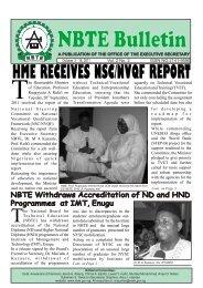 NBTE Biweekly Bulletin Latest 26th Sept