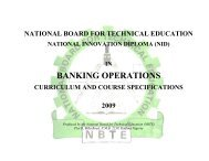 NID in Banking Operations - NBTE
