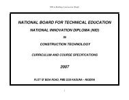 NID in Building Construction - NBTE