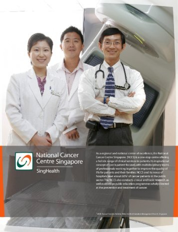 NCCS FY 2004 Annual Report - National Cancer Centre Singapore