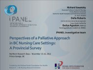 Perspectives of a Palliative Approach in BC ... - Northern Health
