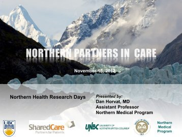 Northern Health Research Days
