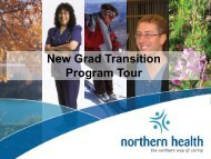 New Grad Transition Program Tour - Northern Health