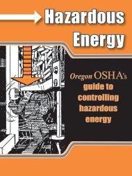 OSHA's guide to controlling hazardous energy - Oregon OSHA