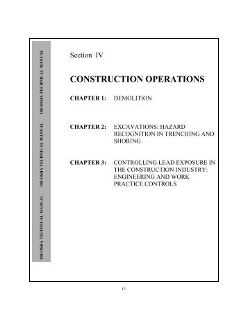 Technical Manual - Section 4 (Construction Operations)
