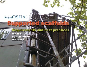 Supported scaffolds for the construction industry