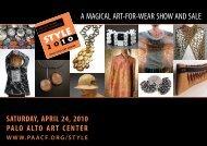 a magical art-for-wear show and sale - Palo Alto Art Center Foundation