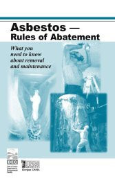 Asbestos - Rules of Abatement - Oregon OSHA