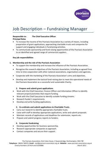 events manager job description