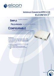 INTERFACE CONVERTER NTE1-V.35 - Elcon Systemtechnik