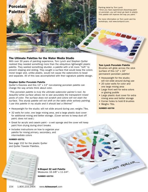 """Creative Mark Watercolor Painting Palette with Cover 12/"""" x 16/"""" Plastic Tray"""