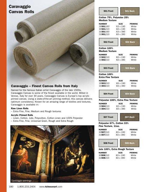 Pro Art 63-Inch by 3-Yards Canvas Rolls Unprimed