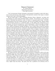 Tamer M  Nadeem - Research Statement - Tamer Nadeem's