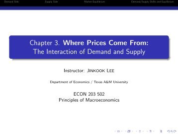 Chapter 3 - Department of Economics - Texas A&M University