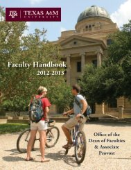 Faculty Handbook - Department of Economics - Texas A&M University