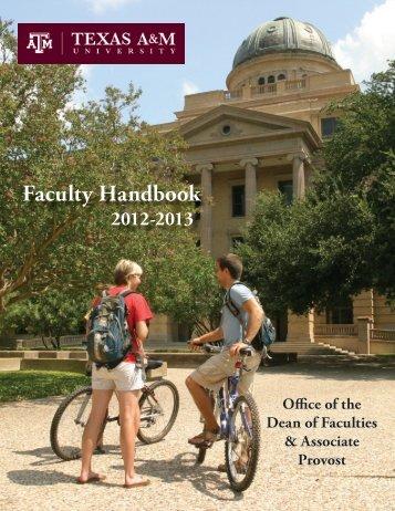 Faculty Handbook - Department of Economics - Texas A&M University