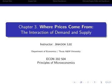 Chapter 3 - Department of Economics - Texas A&M University