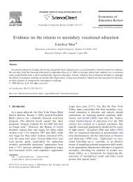 Evidence on the returns to secondary vocational education