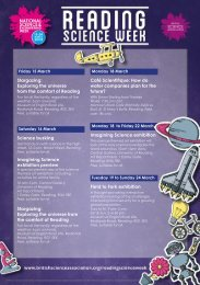 Events diary - Reading Science Week 2013 - University of Reading