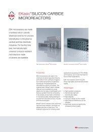 Ekasic® SILICON CARBIDE MICROREACTORS - ESK
