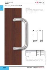 Pull handles sets, stainless steel matt - Hafele