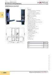 Electronic Locking Systems - Hafele