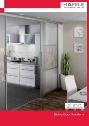 Sliding Door Solutions - Hafele