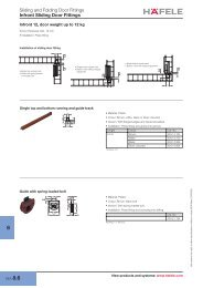 Sliding and Folding Door Fittings Infront Sliding Door Fittings - Hafele