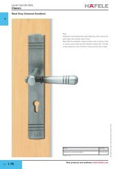 Classic lever and pull handle sets - Hafele