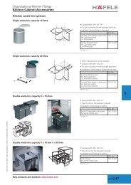 Organisational Kitchen Fittings Kitchen Cabinet Accessories - Hafele