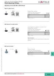 Plinth Adjusting Fittings - Hafele